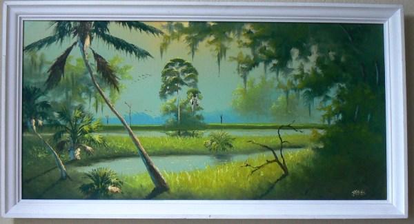 Original Florida Highwaymen Vintage Oil Painting