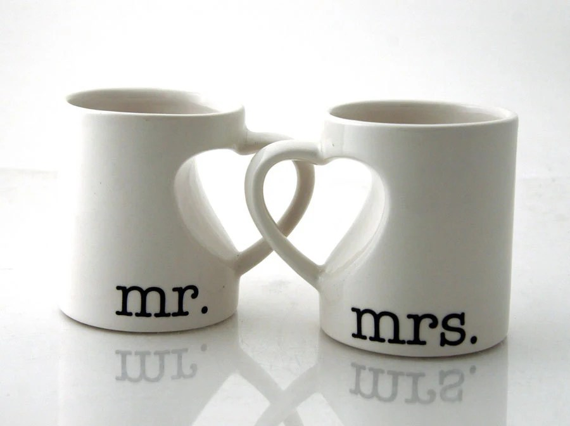 Mr & Mrs. Mug Set For Couples Bride And Groom Wedding