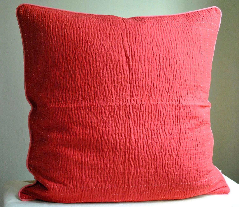 Coral Pillow Shams