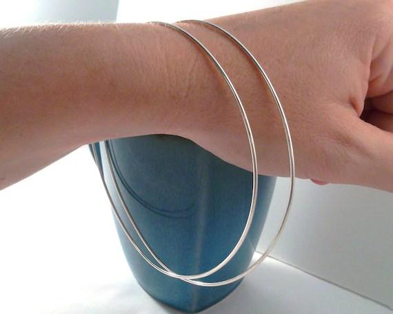Giant Sterling Silver Hoop Earrings. 4 inch Diameter