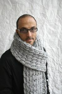 Gray Wool Big Extra Long Scarf Perfect Gift Under 75 For Men