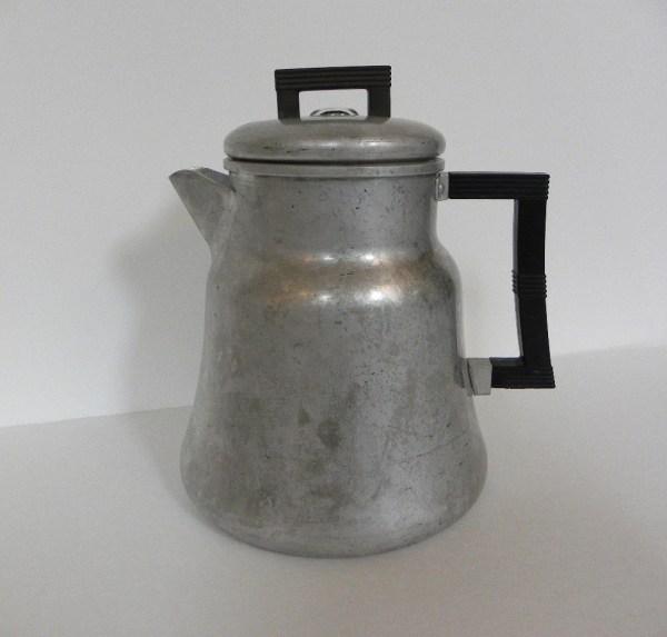 Vintage Coffee Percolator Wear Aluminum Pot