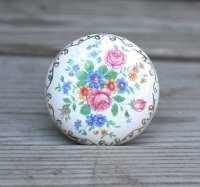Vintage Antique Porcelain Door Knobs Floral