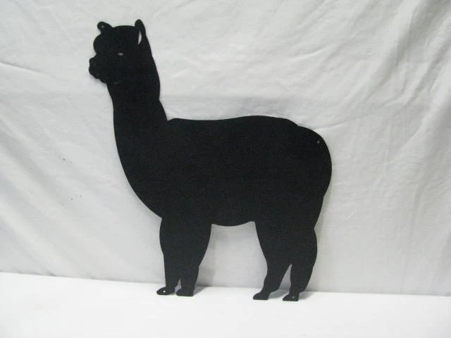 Alpaca Metal Silhouette Wall Yard Barn Art by Cabinhollow