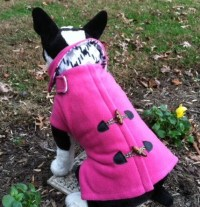 Dog Fleece Pink Pea Coat Dog Jacket Dog Coat Dog Jackets