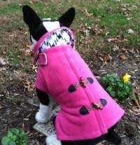 Dog Fleece Pink Pea Coat Dog Jacket Dog Coat Dog Jackets