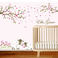 Vinyl wall decal branch set nursery wall decal sticker with