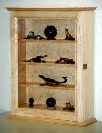 Maple Curio Display Cabinet by fwdisplay on Etsy