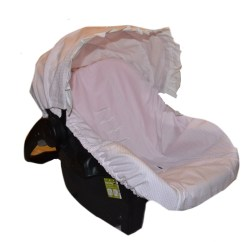Chair Covers For Baby Computer Nz Car Sear Cover Infant Seat Slip Pink