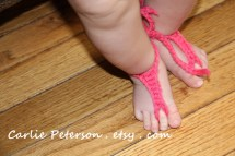 Crochet Pattern Baby Barefoot Sandals Gladiator Triangle