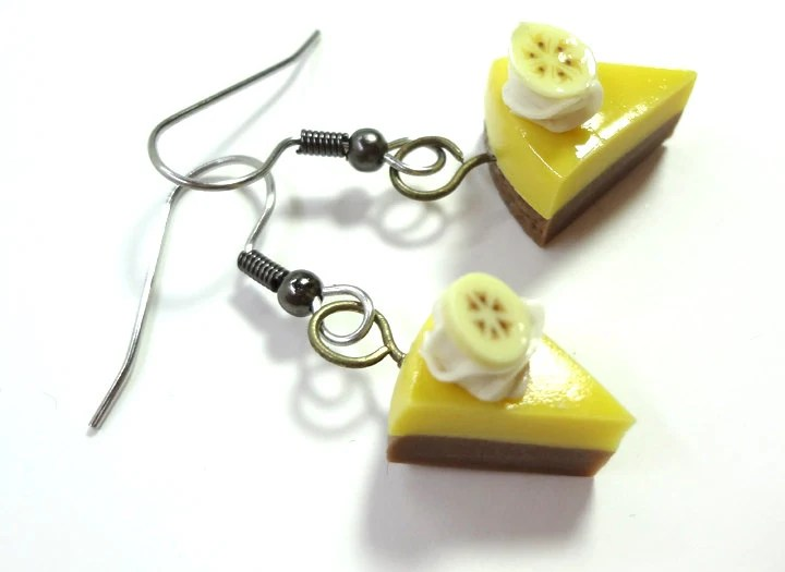 Banana Topped Creme Pie Earrings - Glamour365