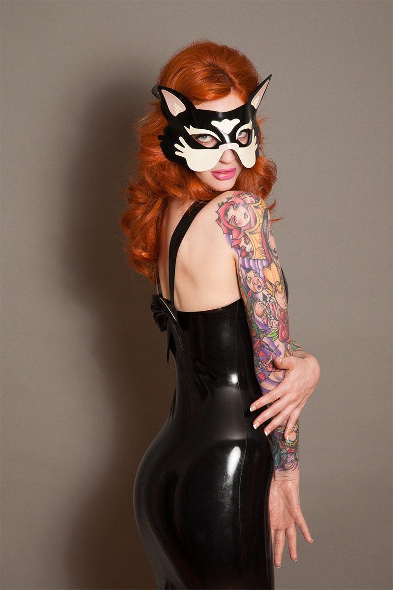 Olivia bow back latex dress by abigailgreydanus on Etsy