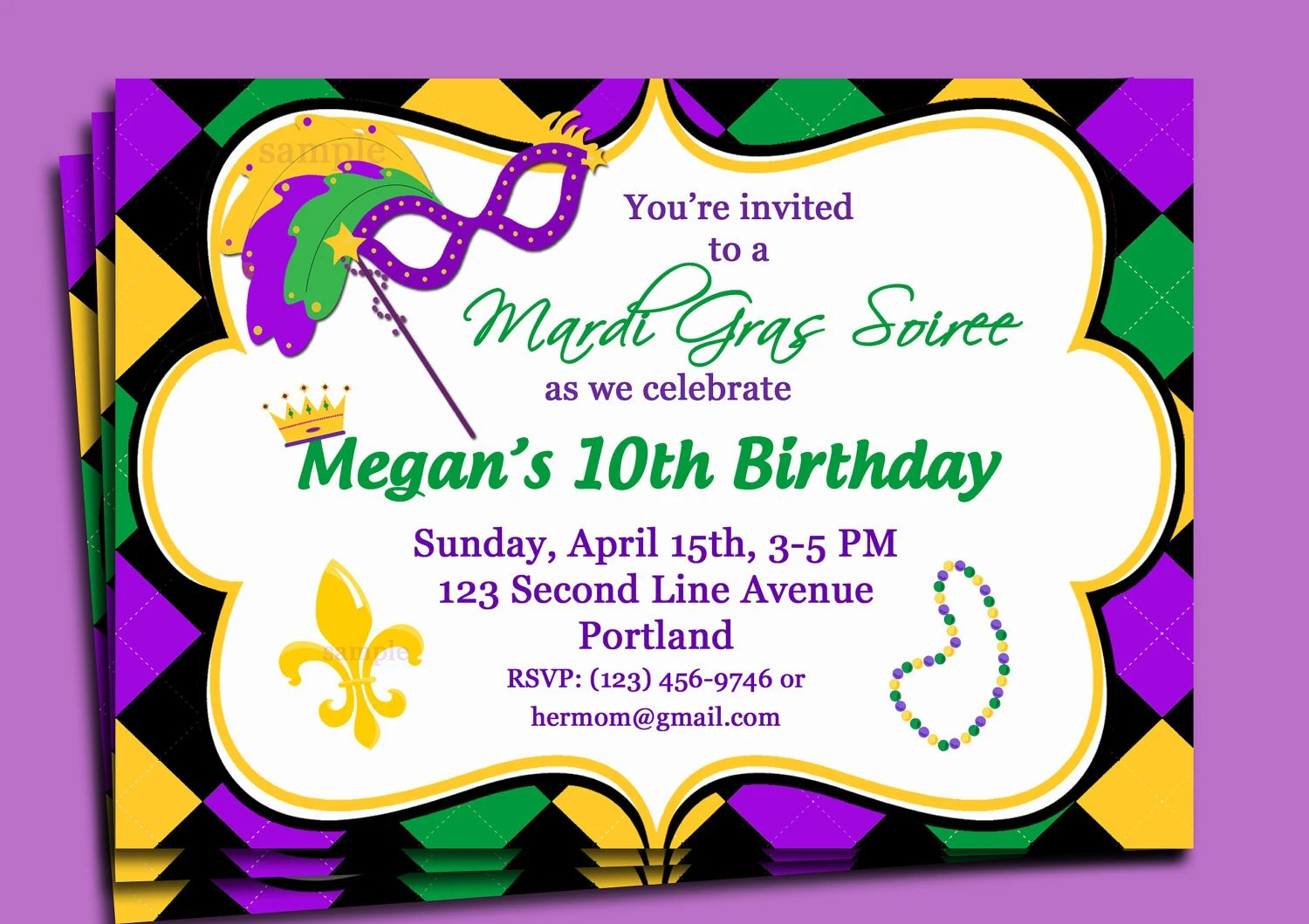 photo about Free Printable Mardi Gras Invitations known as Cost-free Printable Mardi Gras Invites - Anarchistshemale