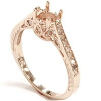 Rose Gold Ring Mount Diamond Antique Engagement Ring Setting