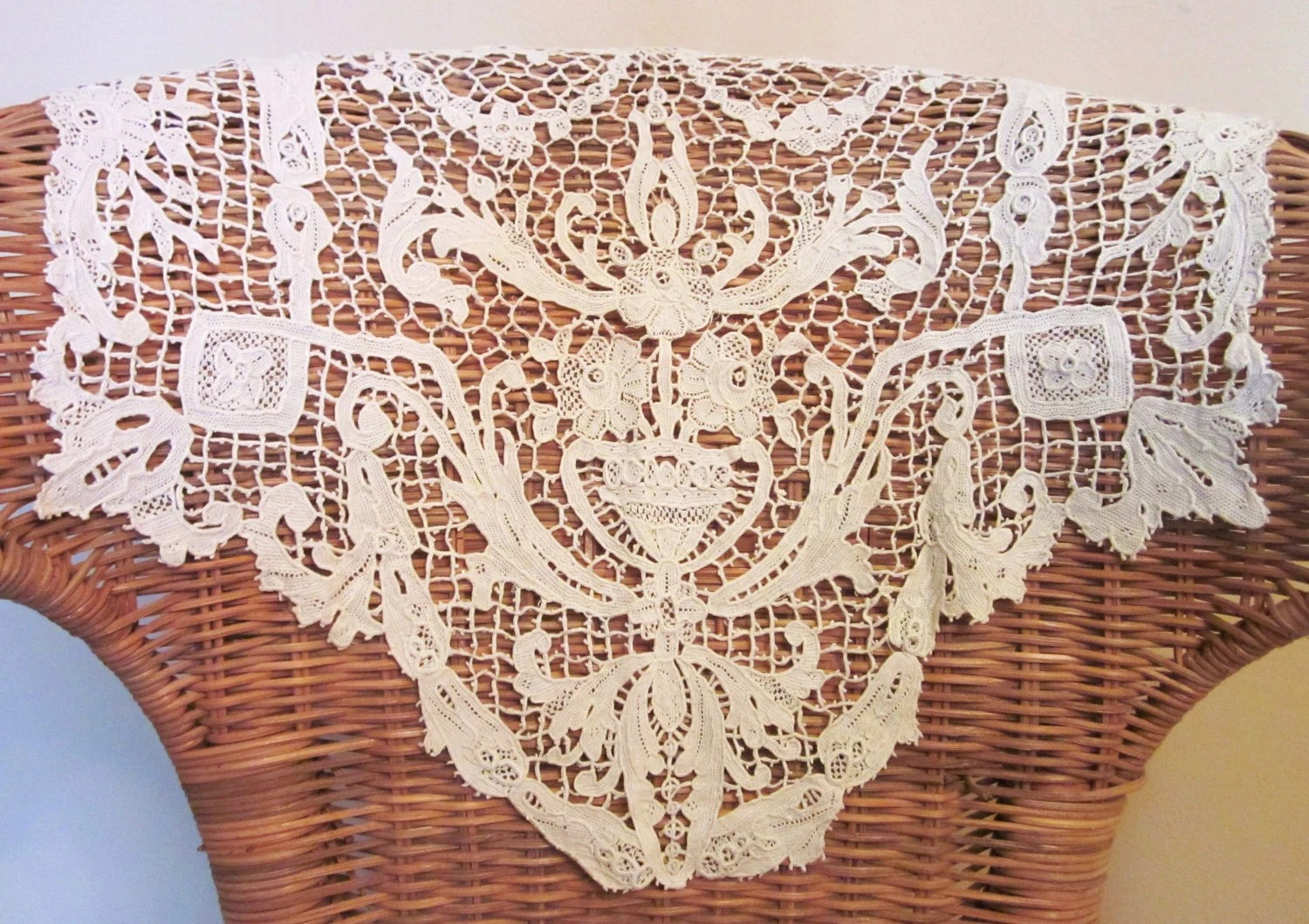 Chair Back Covers Vintage Crocheted Antimacassars Chair Back Cover Doily