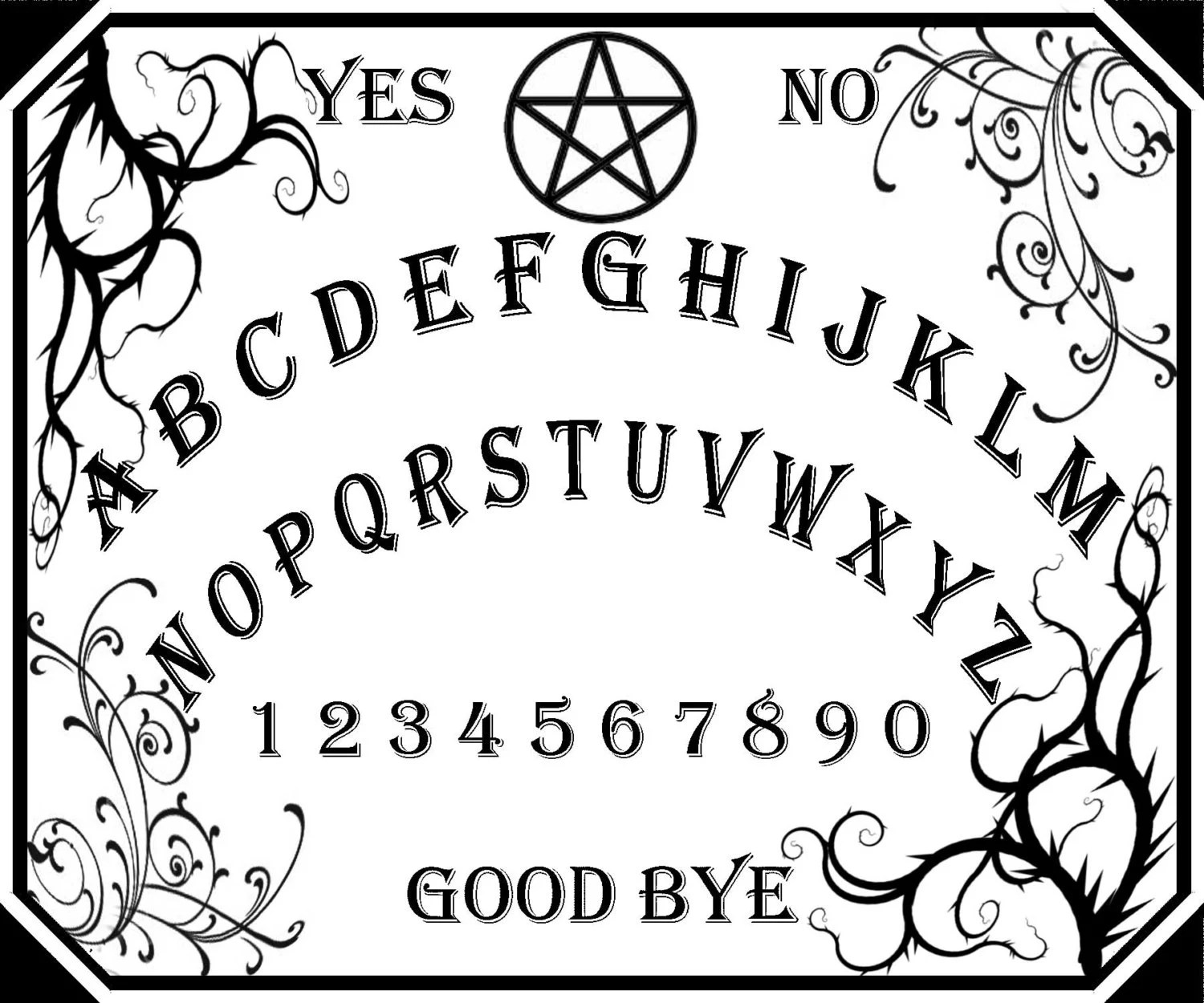 Ouija Board Template Sketch Coloring Page