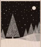 Hero Arts Winter Moon Wood Christmas Stamp - a2zscrapbooking