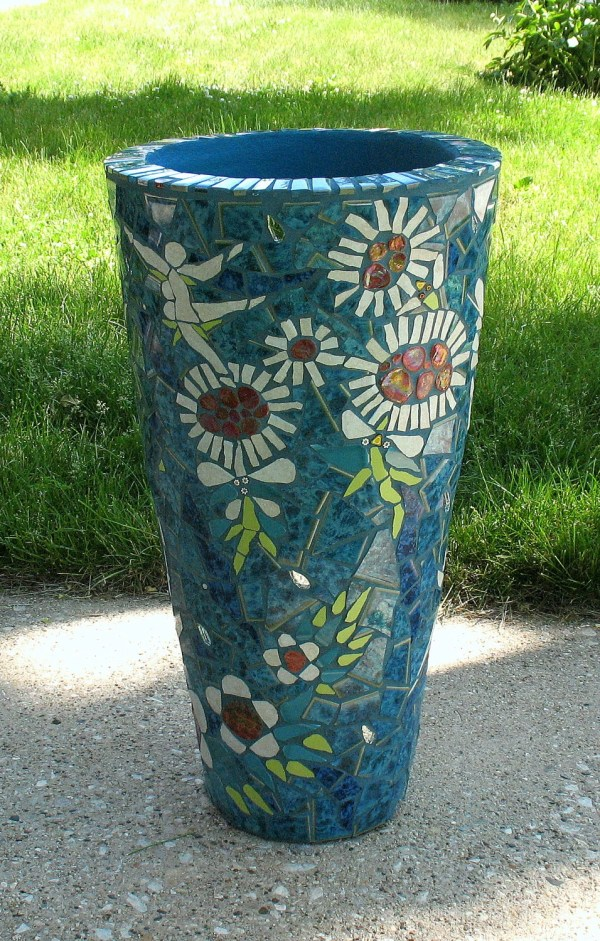 Dancing Flowers Mosaic Flower Pot Planter