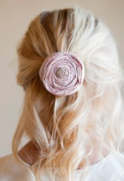 english rose flower girl hair