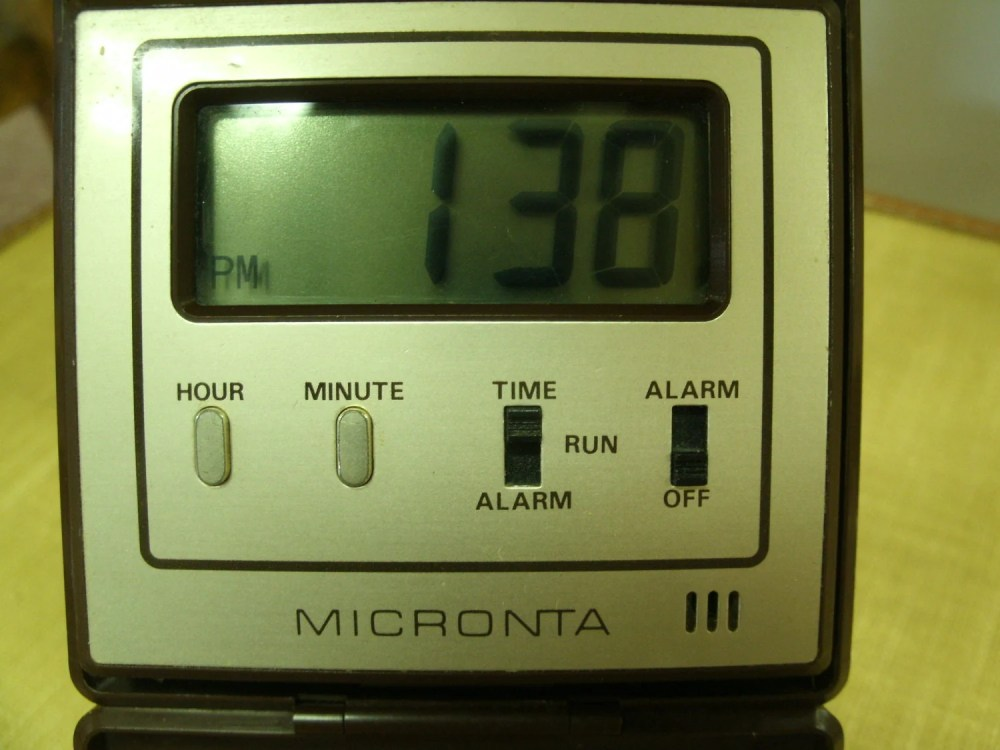 medium resolution of lcd folding travel alarm clock by micronta