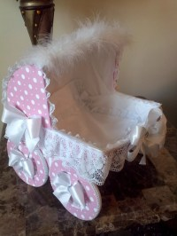14 Inch Pink And White Polka Dot Baby Carriage by ...