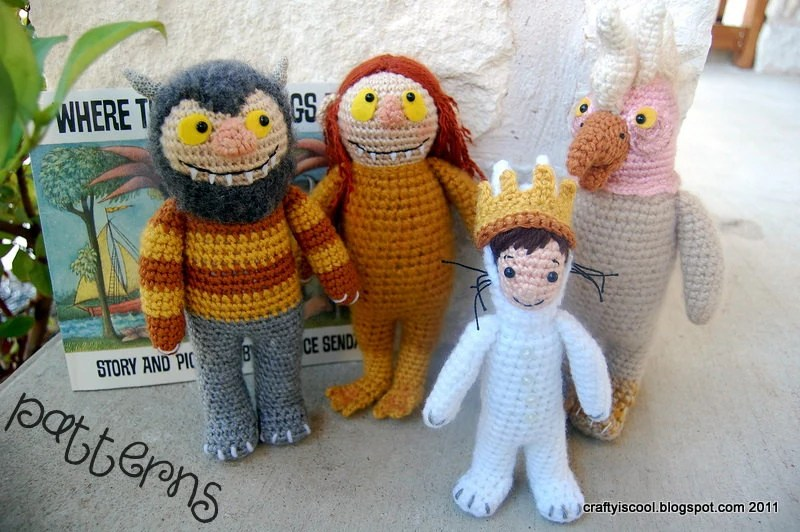 PATTERNS Where the Wild Things Are Set of Four Crochet Amigurumi Patterns - craftyiscoolcrochet