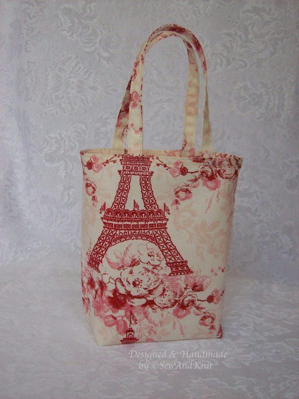 Eiffel Tower Bag Small Fabric Handmade Paris Inspired