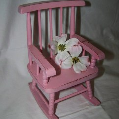 Mini Rocking Chair Henriksdal Cover Ikea Uk Upcycled Toy Miniature Pink