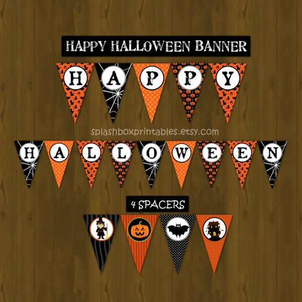 Halloween Party Printable Banner Halloween by