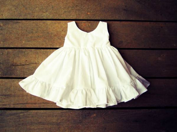 Girls White Ivory Ruffle Easter Dress Flower Plainjanesstore