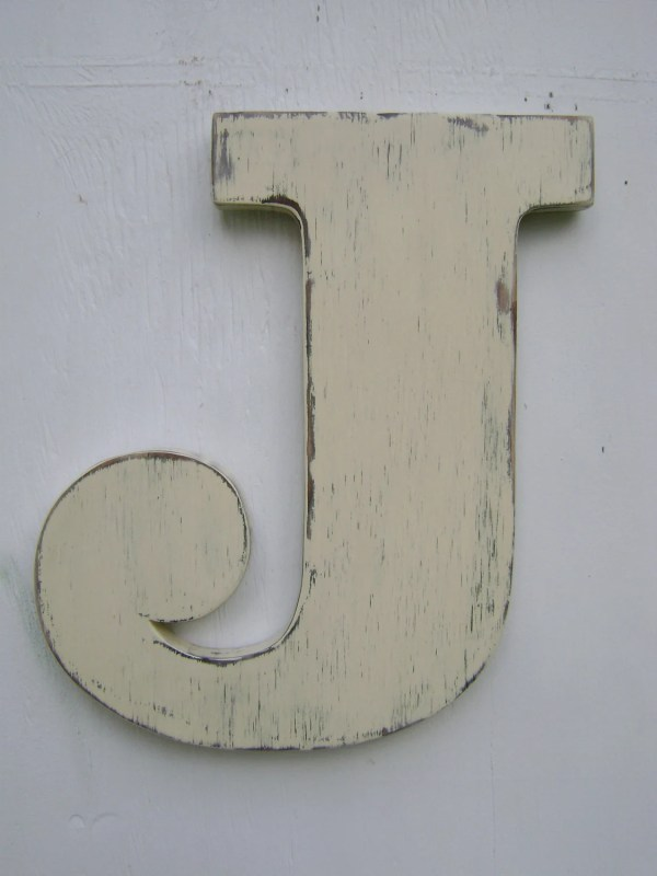 Personalized rustic wall letters shabby chic monograms home
