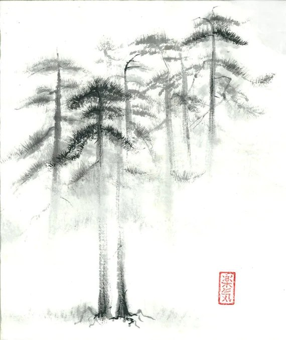 Items similar to Print of Sumi-e Paintings