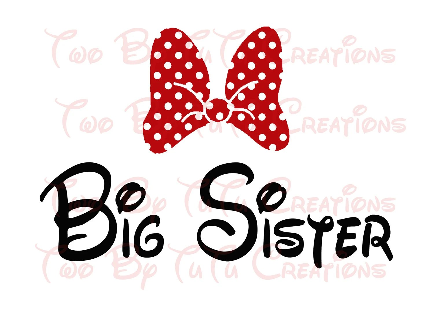 Minnie Mouse Big Sister Printable Image For Iron On Transfer
