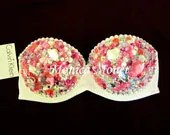 Victoria's Secret Fashion Show Inspired Barbie Sexy Rave Bra Costume Burlesque Sequin Rhinestone Bling Bra - monicamonet