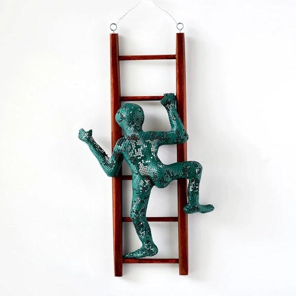 Metal Climbing Man Wall Art Decor