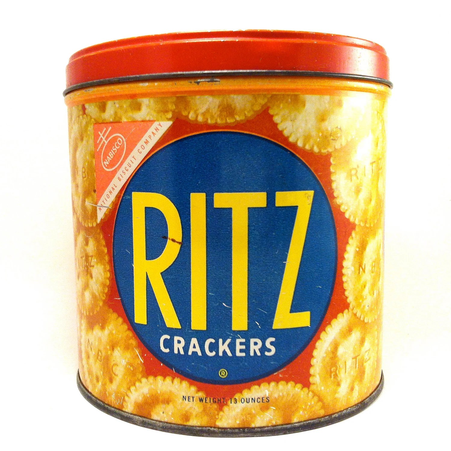 Vintage Red Ritz Cracker Tin Nabisco Storage With By Cosabuena