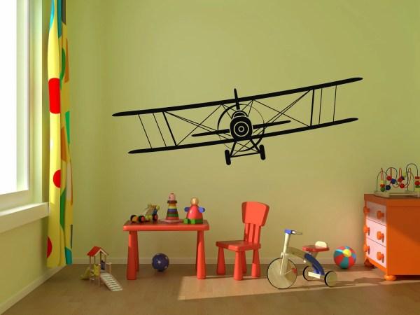 Airplane Wall Decal Biplane Vinyl Graphics Stickerhog