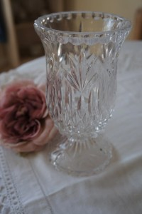 Princess House Vintage Lead Crystal 2 piece candle holder