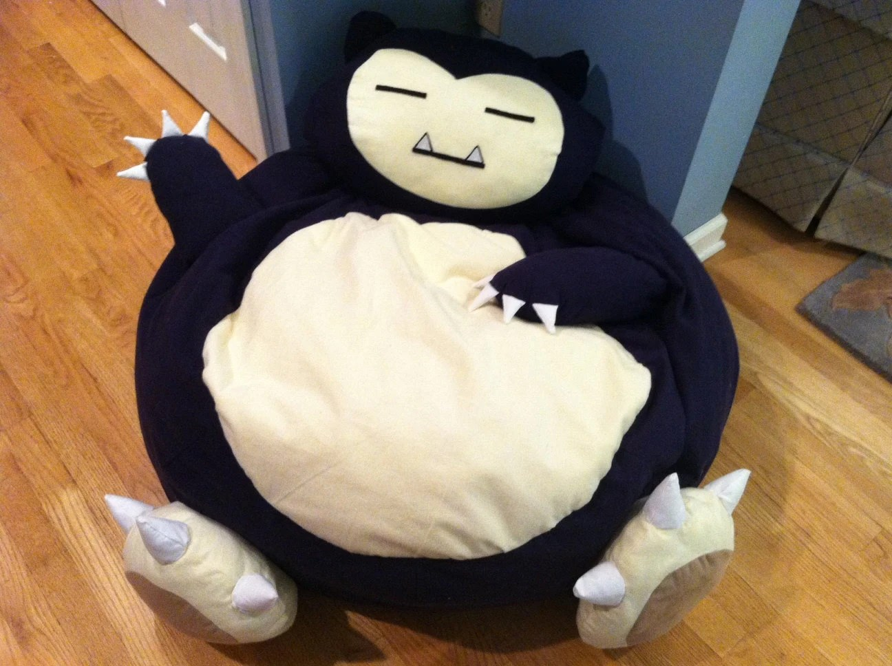 what size bean bag chair do i need office depot hardwood floor mat snorlax pokemon full