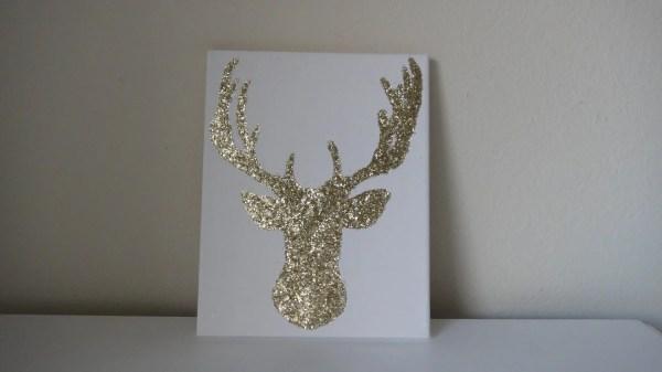 Gold Glitter Wall Canvas Art