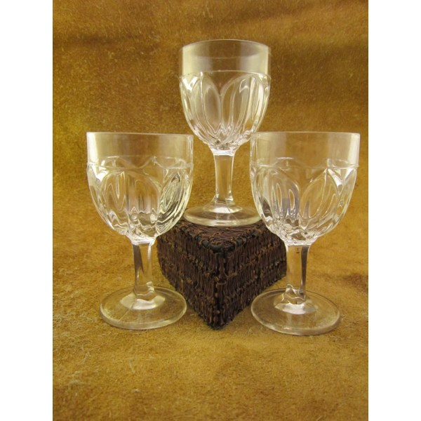 Tulip Clear Glass Cordial Glasses Set Of 3