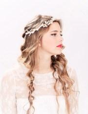 bridal headband flower crown headpiece