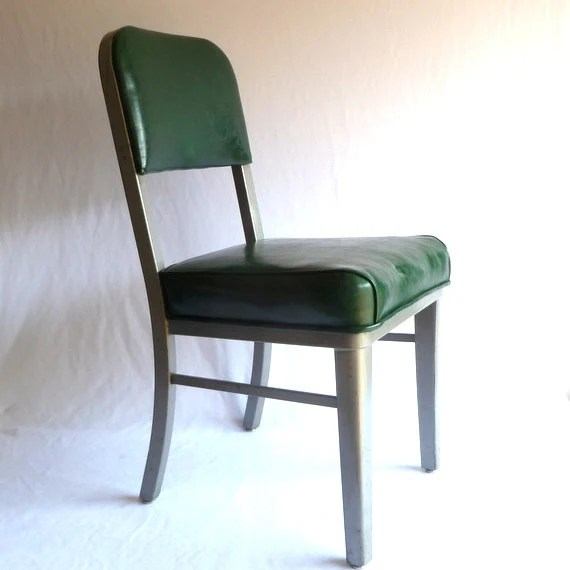 vintage steelcase chair dining room cushions with ties green steel chair/ office