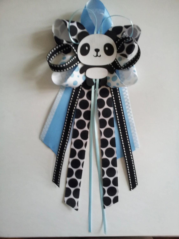 Panda baby shower pincorsage