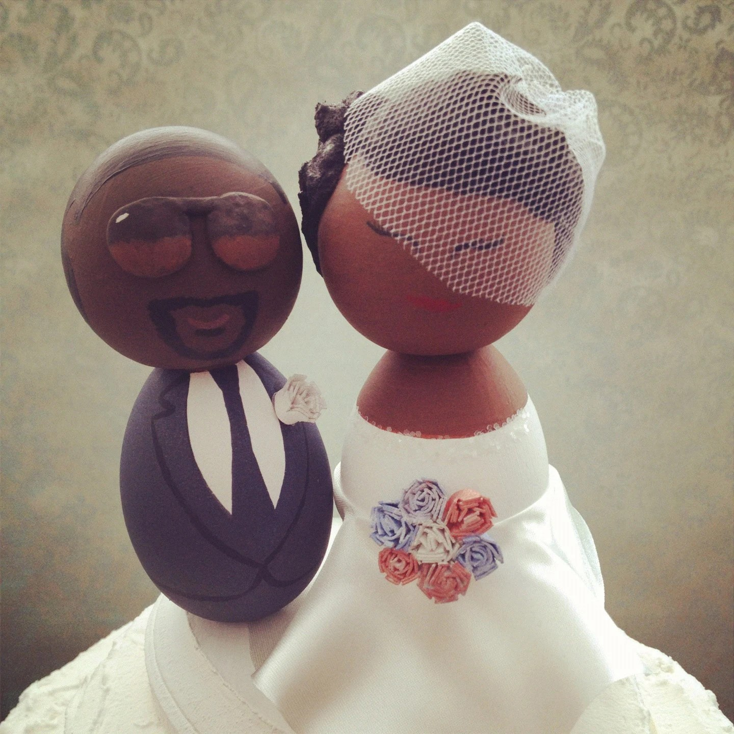 Custom African American Wedding Cake Topper Every topper is