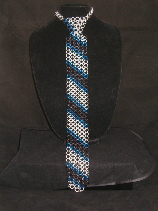 Chainmaille Necktie Chain Mail Tie Amandalynnchainmail