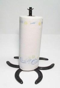 Items similar to Handmade Horseshoe Paper Towel Holder on Etsy