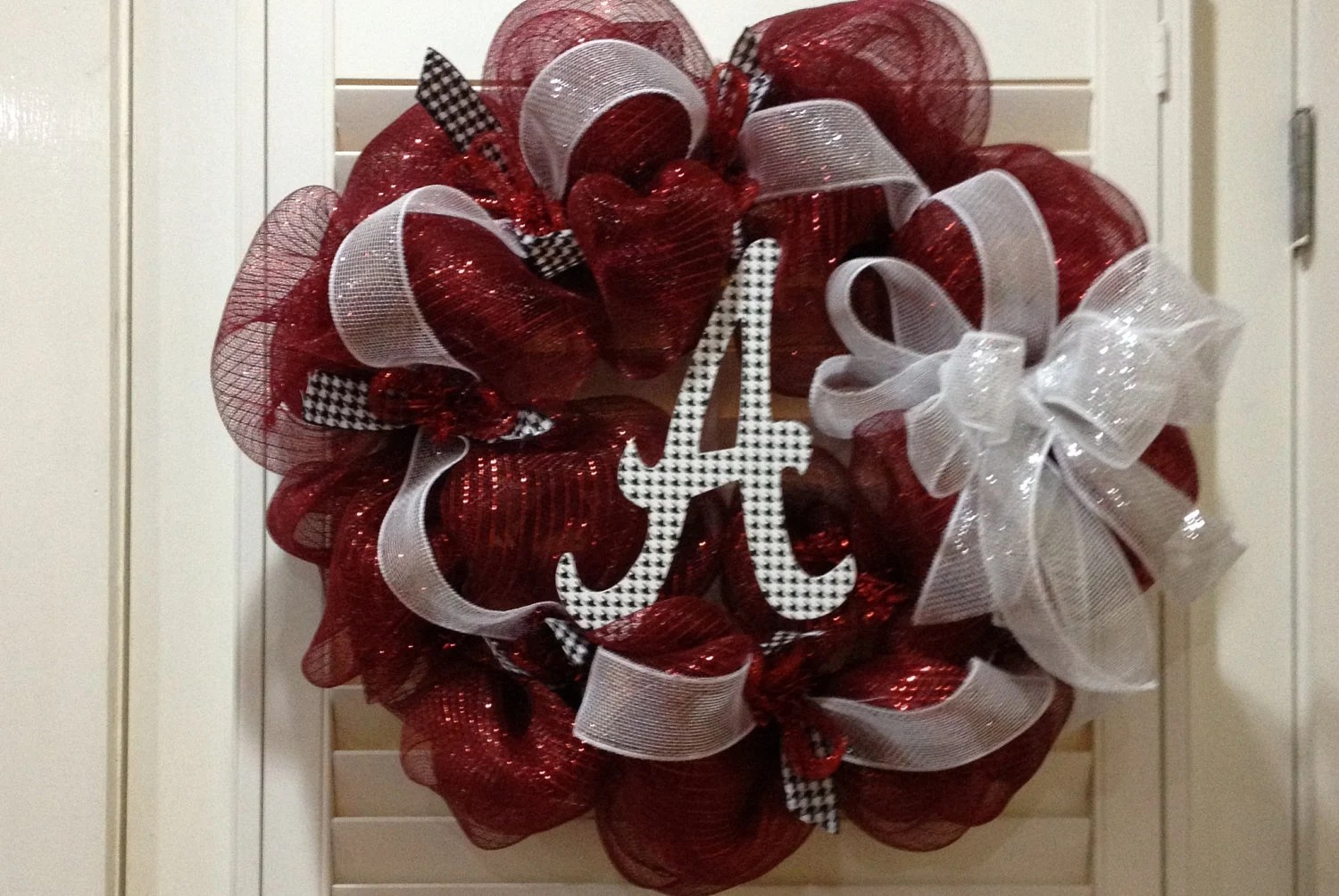 Alabama Crimson Tide Door Wreath Roll Tide Decoration