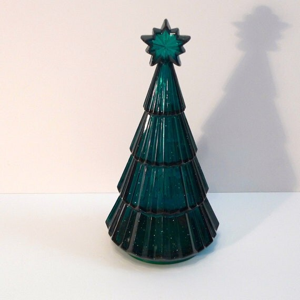 Items similar to Christmas Tree Candy Jar Vintage Tree
