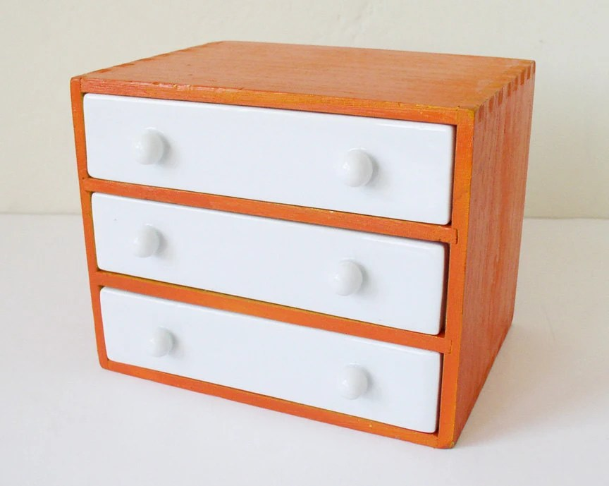 Small chest of drawers desk organizer by kitschcafe on Etsy